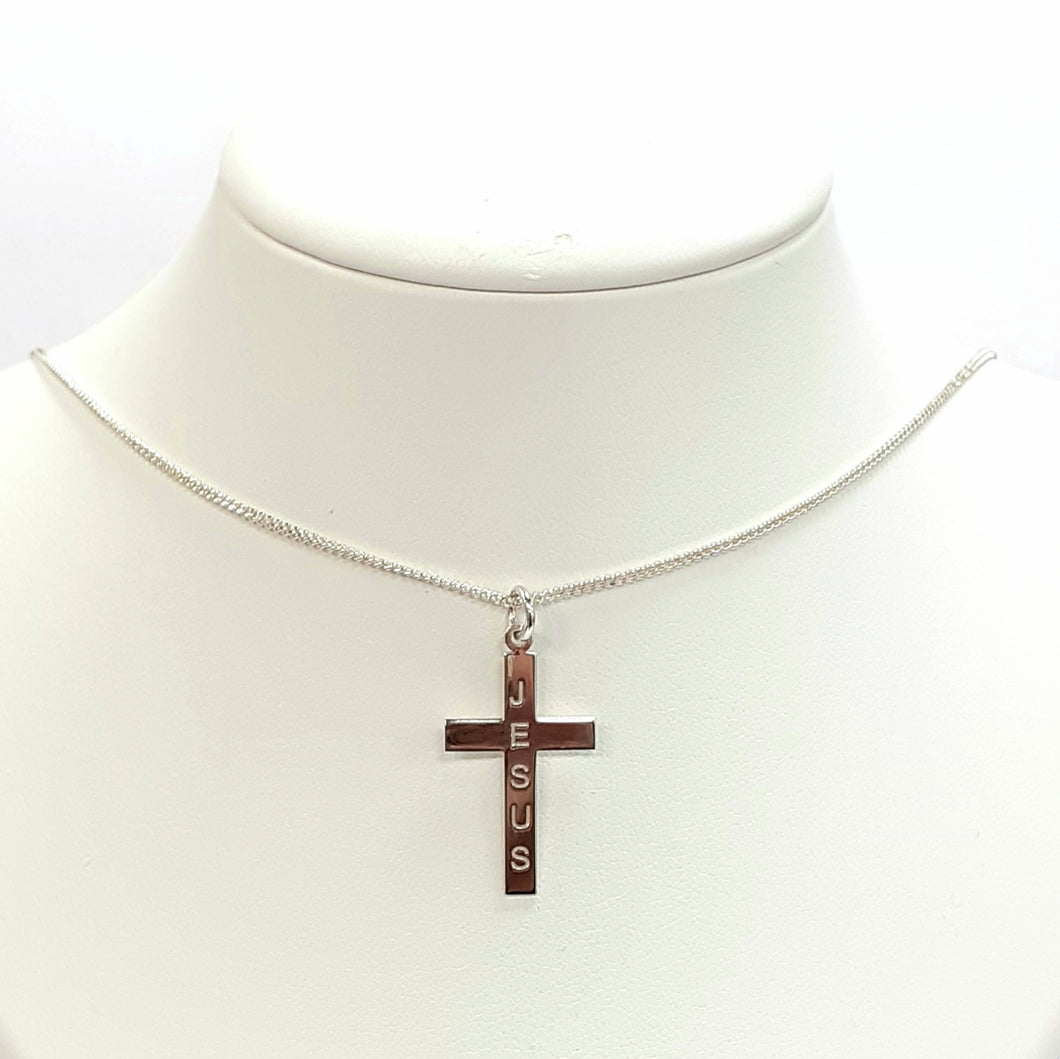 Silver Cross Chain Hallmarked 925 - Product Code - U550 & F904