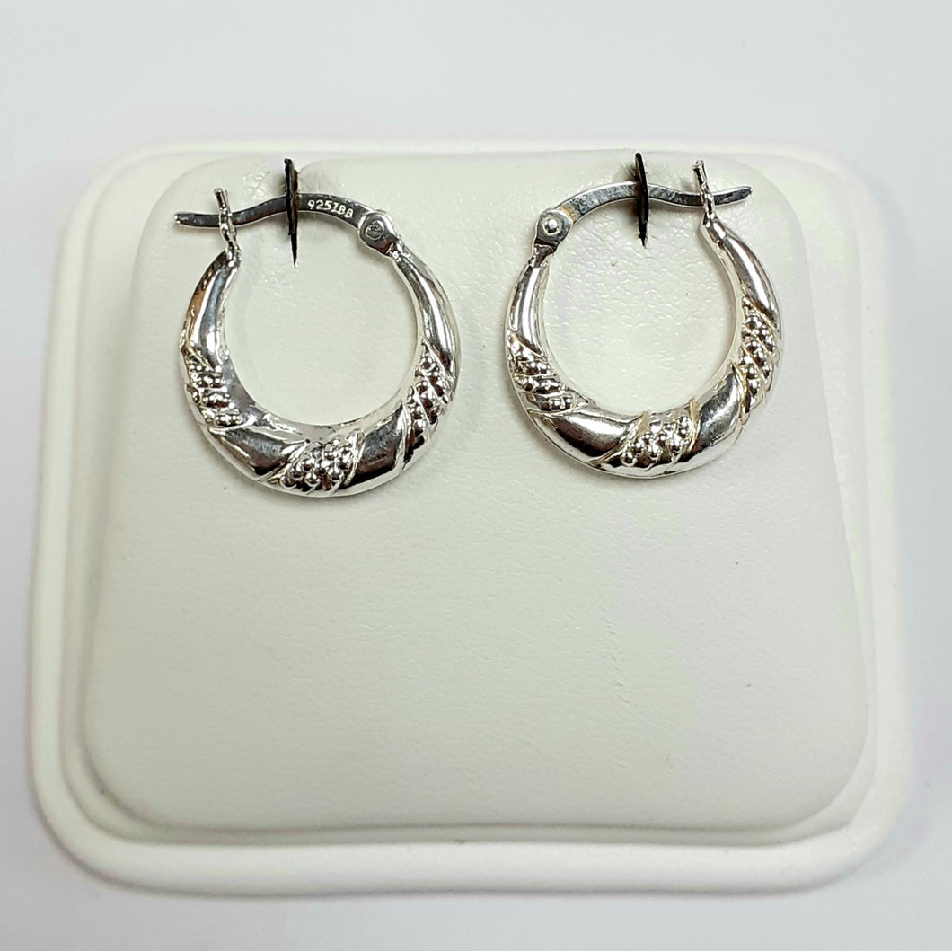 Silver Earrings Hallmarked 925 - Product Code - VX169