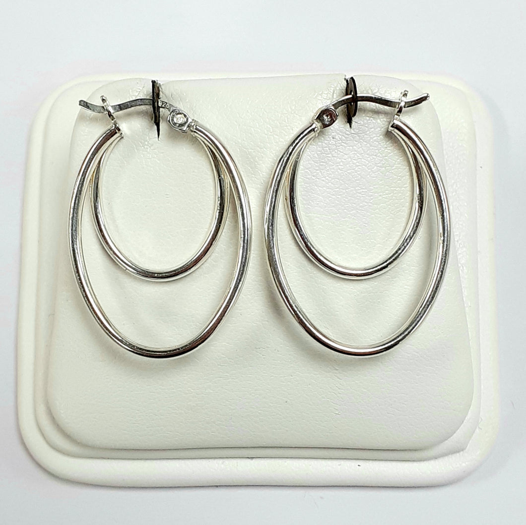 Silver Earrings Hallmarked 925 - Product Code - J615