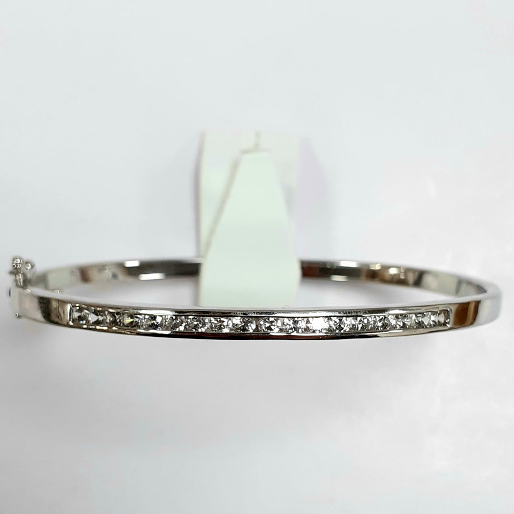 Silver Ladies Bangle - Product Code - F38