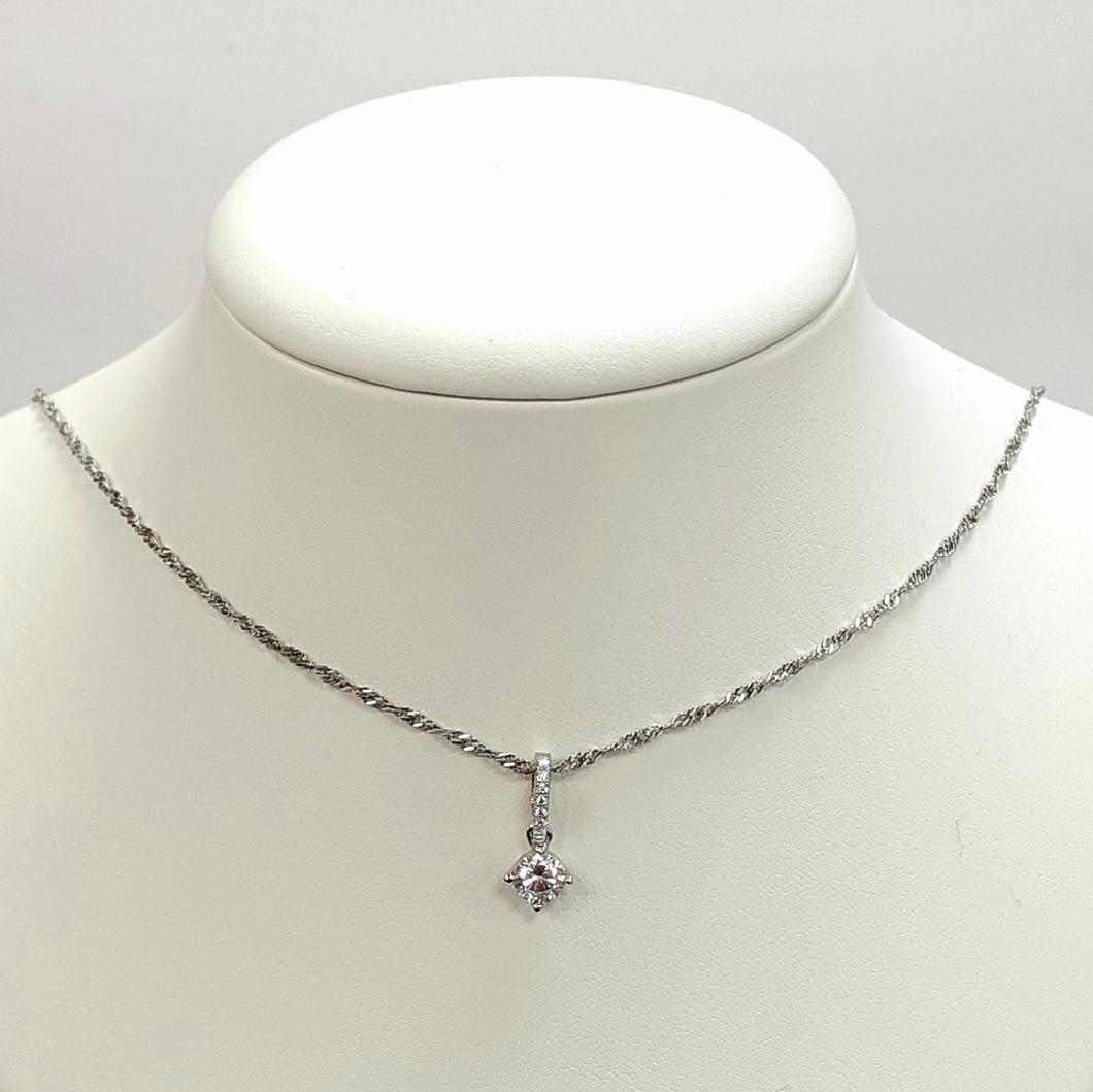 Silver Hallmarked 925 Pendant & Chain- Product Code - I502 & J475