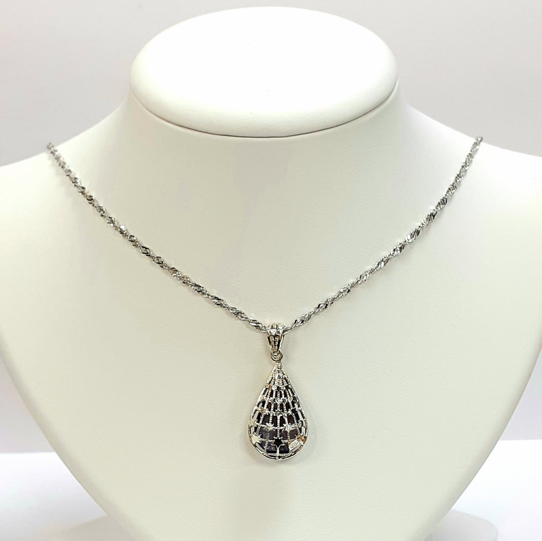 Silver Hallmarked 925 Pendant & Chain- Product Code - C729 & J476