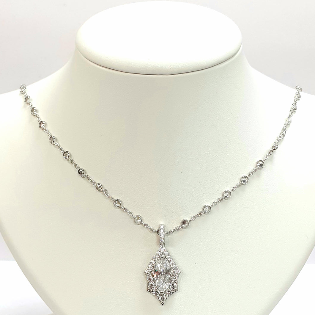 Silver Hallmarked 925 Pendant & Chain - Product Code - B853