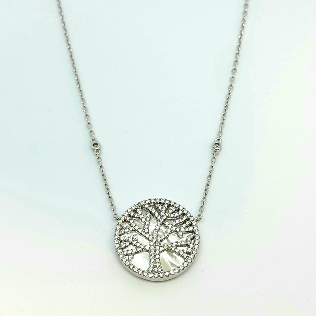 Silver Hallmarked 925 'Tree of Life' Pendant with Adjustable Chain - Product Code - I665