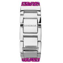 Load image into Gallery viewer, Seksy Rocks® Pink Stone Set Bracelet Watch - Product Code - 2856