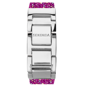 Seksy Rocks® Pink Stone Set Bracelet Watch - Product Code - 2856