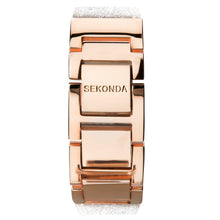 Load image into Gallery viewer, Seksy Rocks® Rose Gold Plated Bracelet Watch - Product Code - 2858