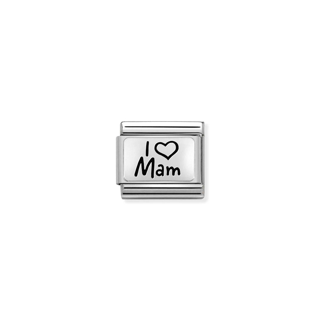 Nomination Silver I Love Mam Plate Charm - Product Code - 030111-03
