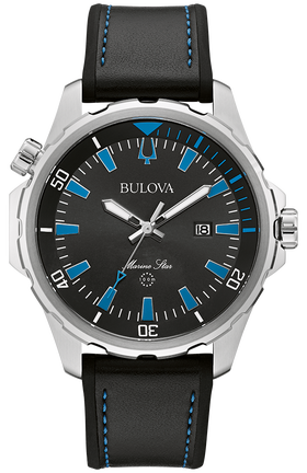 Bulova Men's Quartz MARINE STAR Strap Watch - Product Code - 96B337