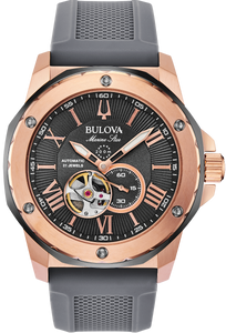 Bulova Men's Mechanical Marine Star Strap Watch - Product Code - 98A228