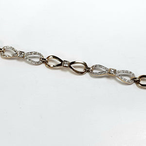 9ct Cubic Zirconia Ladies Bracelet - Product Code - F933