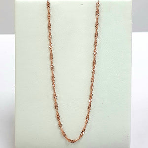 9ct Rose Gold Hallmarked Chain - Product Code - VX76