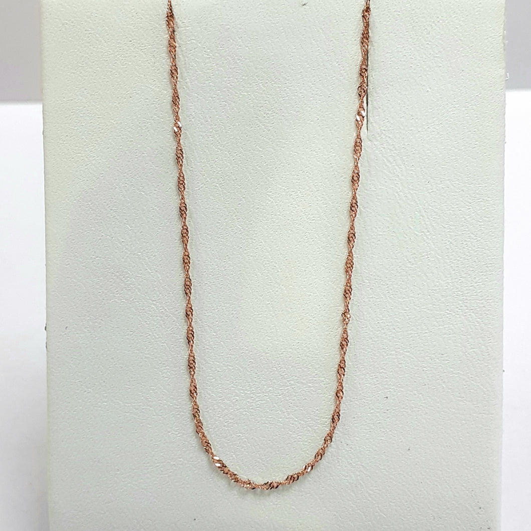 9ct Rose Gold Hallmarked Chain - Product Code - VX73