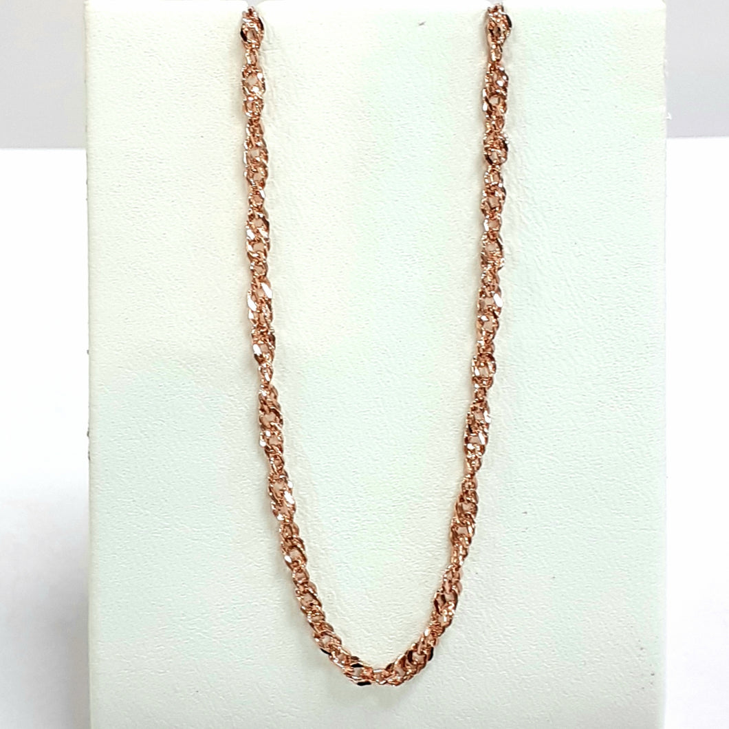 9ct Rose Gold Hallmarked Chain - Product Code - VX77