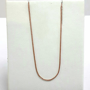 9ct Rose Gold Hallmarked Chain - Product Code - VX856