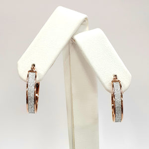 9ct Rose Gold Hallmarked Creole Earrings - Product Code - VX864