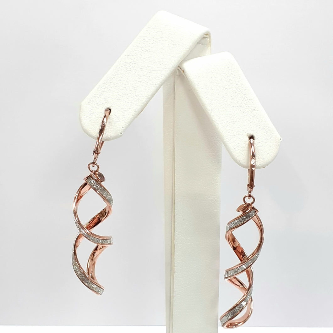 9ct Rose Gold Hallmarked Earrings - Product Code - J576