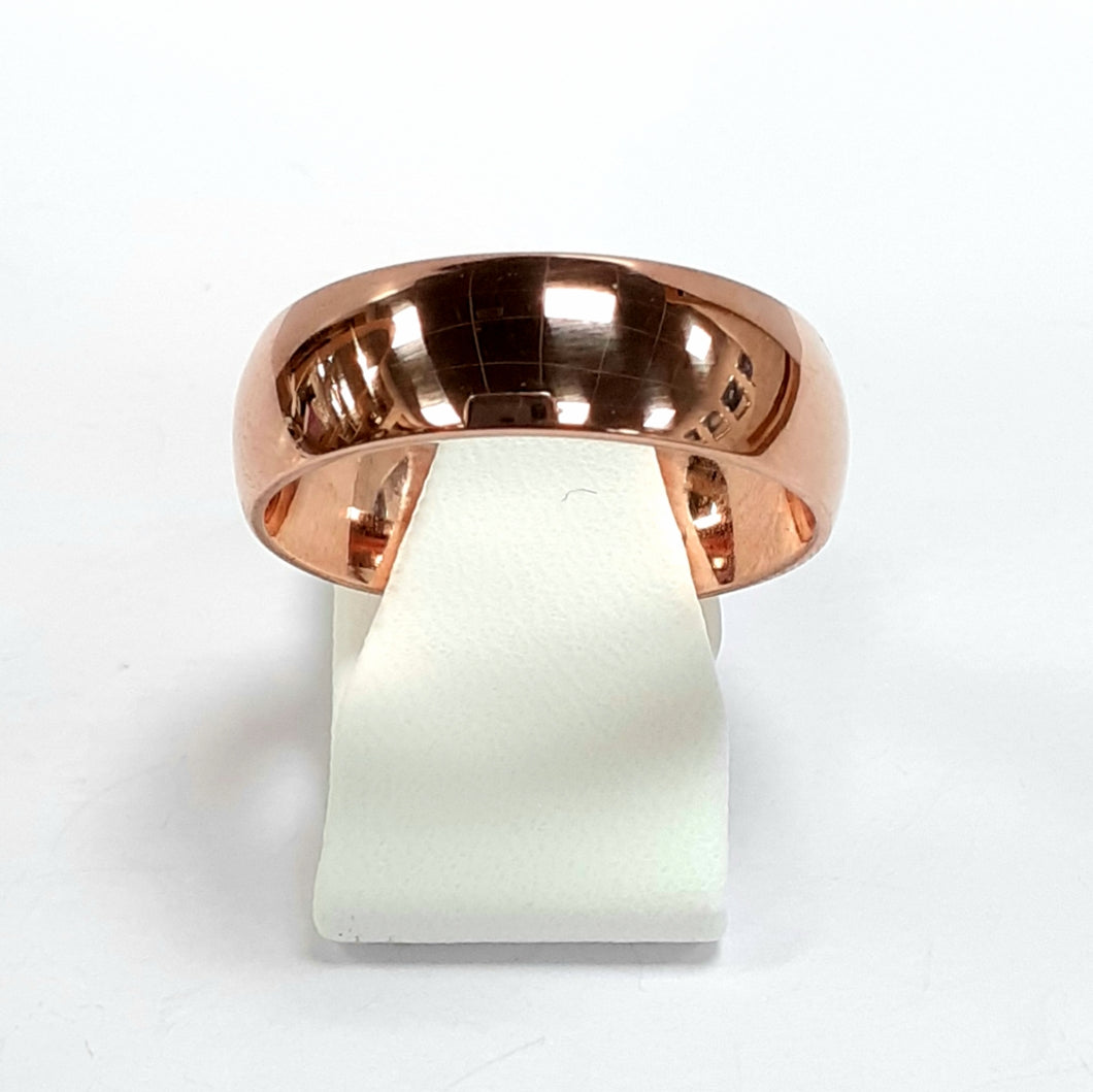 9ct Rose Gold Hallmarked Wedding Ring - Product Code - T396
