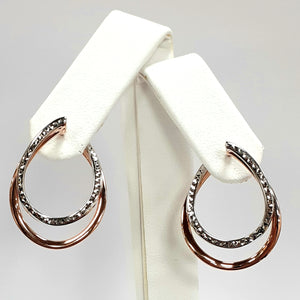 9ct Rose & White Gold Hallmark Earring - Product Code - VX805