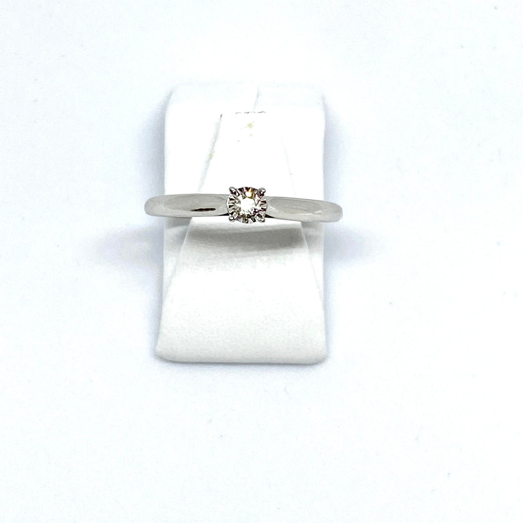 9ct White Gold Diamond Solitaire - Product Code - G462
