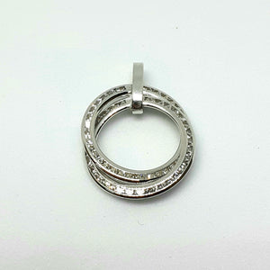 9ct White Gold Hallmarked Stone Set Pendant - Product Code - VX619