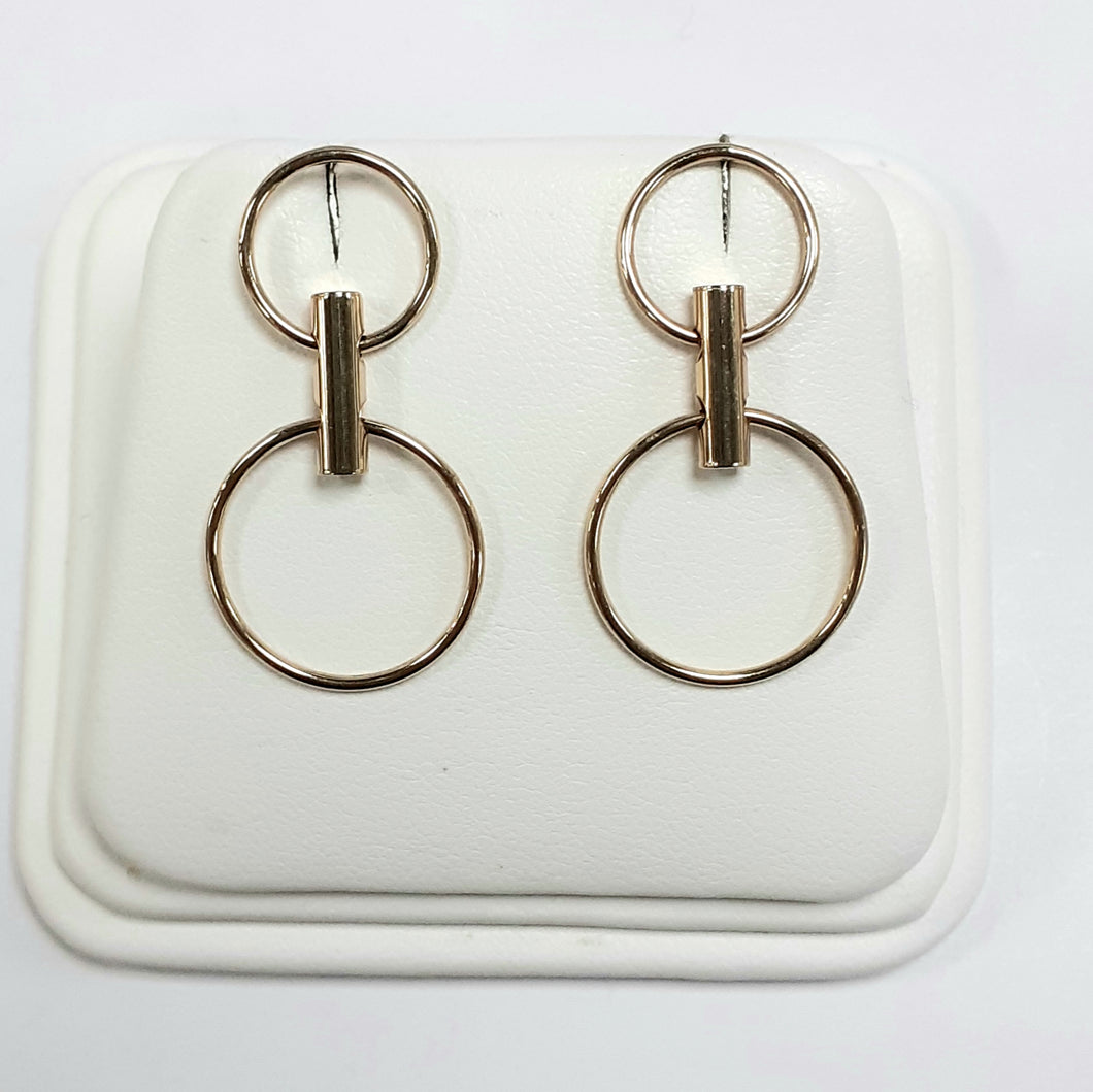 9ct Yellow Gold Hallmark Drop Earrings - Product Code - C735