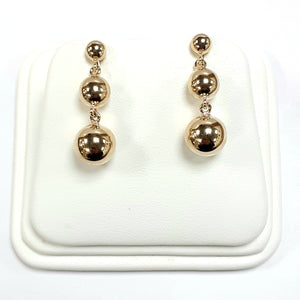 9ct Yellow Gold Hallmark Drop Earrings - Product Code - VX755
