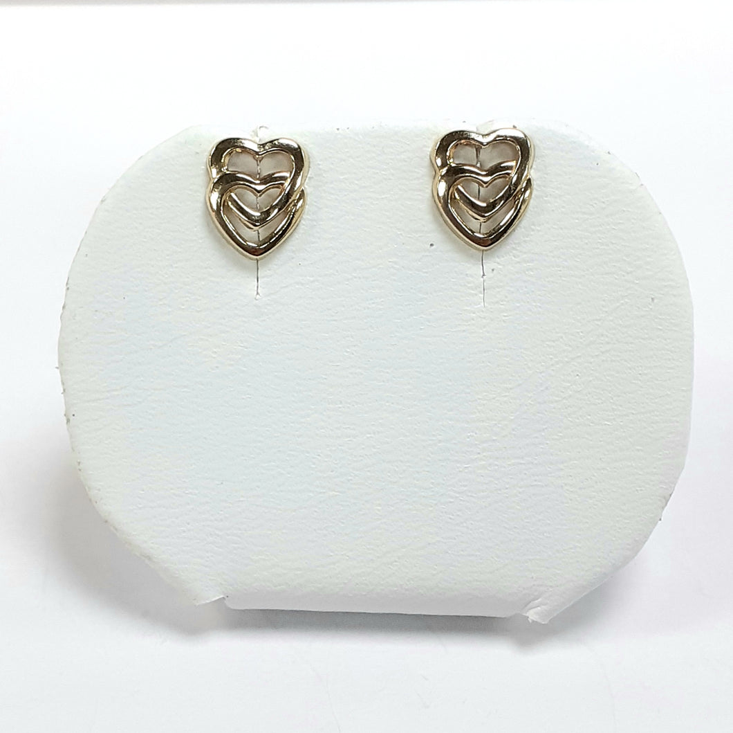 9ct Yellow Gold Hallmark Stud Earrings - Product Code - J198