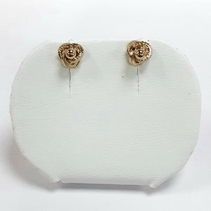 9ct Yellow Gold Hallmark Stud Earrings - Product Code - VX19