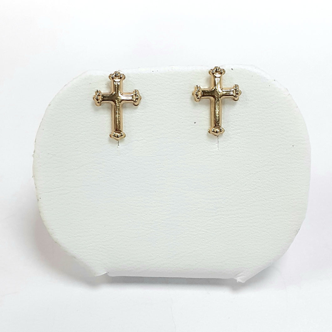 9ct Yellow Gold Hallmark Stud Earrings - Product Code - VX24