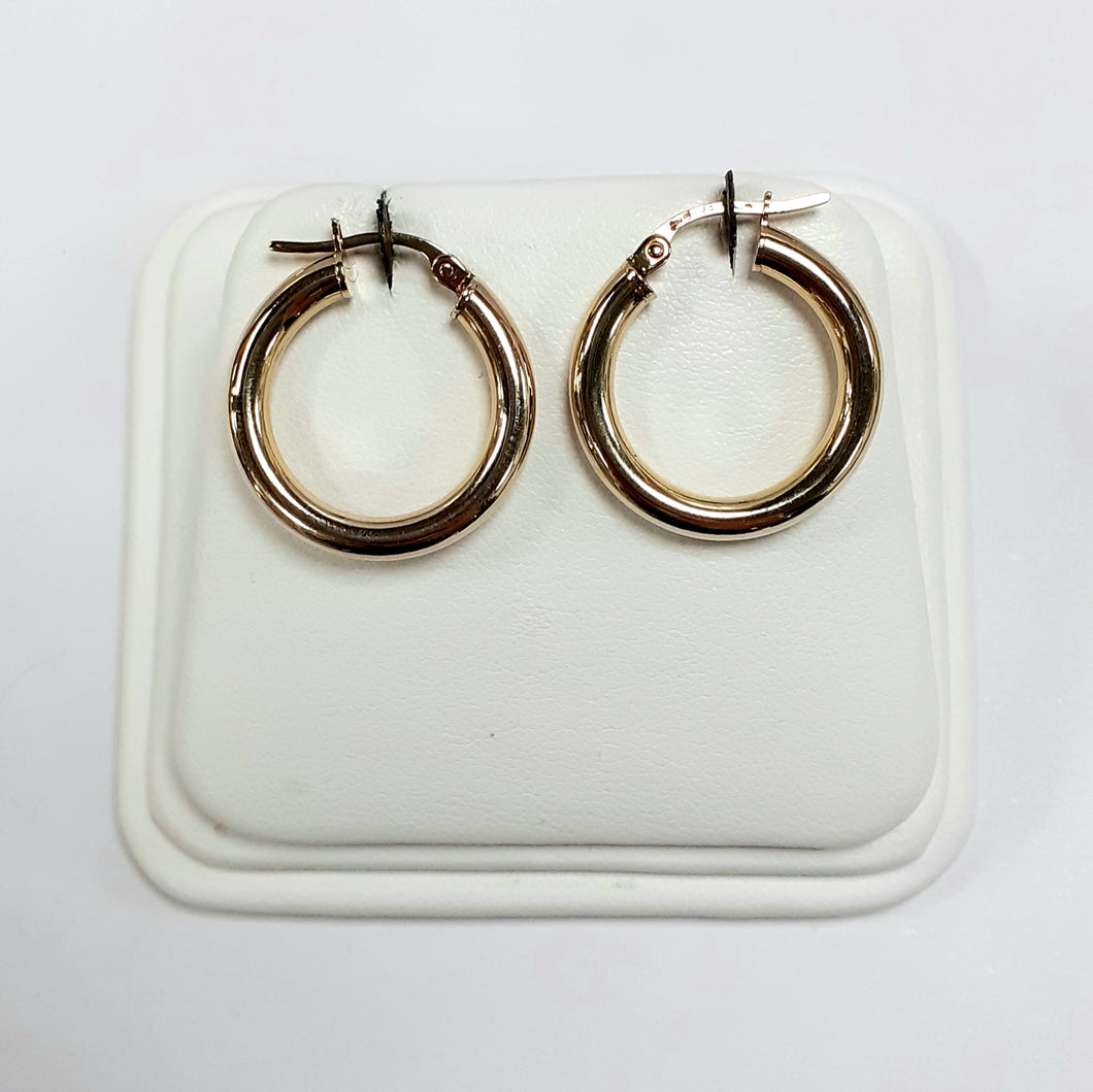 9ct Yellow Gold Hallmarked Creole Earring - Product Code - J171