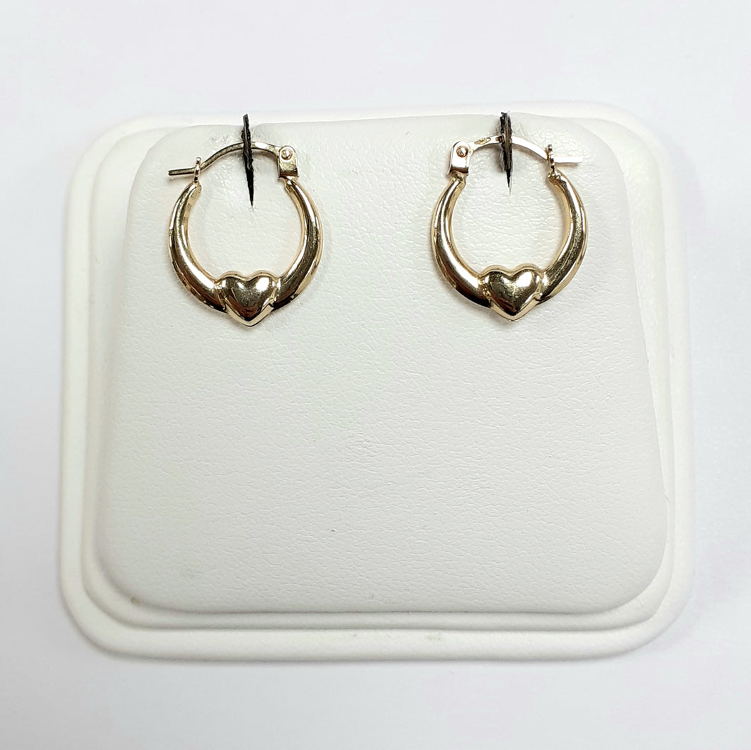 9ct Yellow Gold Hallmarked Creole Earring - Product Code - VX10