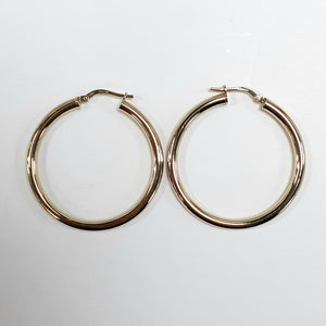 9ct Yellow Gold Hallmarked Creole Earring - Product Code - VX115