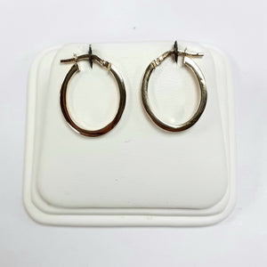 9ct Yellow Gold Hallmarked Creole Earring - Product Code - VX117
