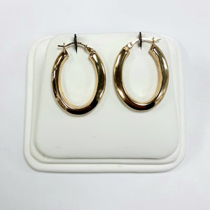 9ct Yellow Gold Hallmarked Creole Earring - Product Code - VX175