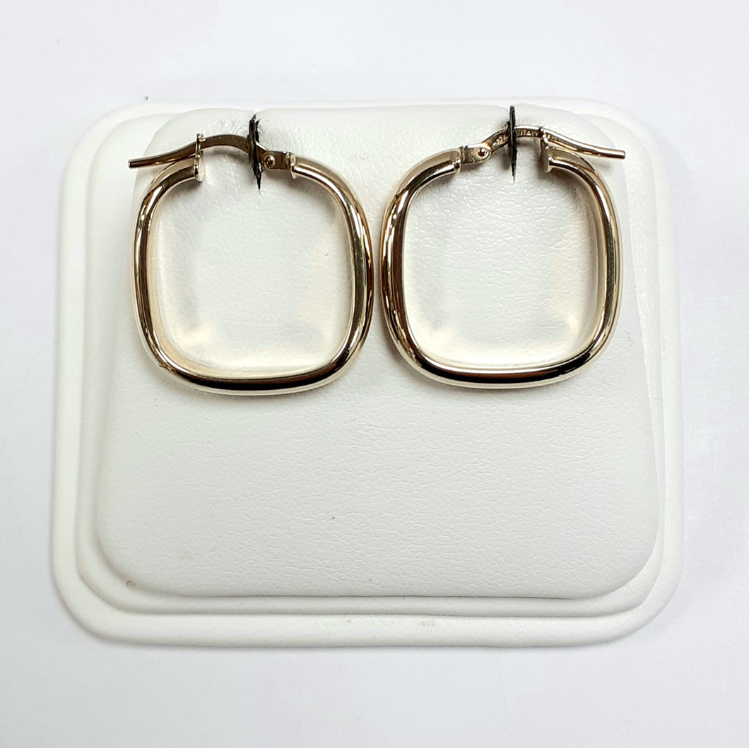 9ct Yellow Gold Hallmarked Creole Earring - Product Code - VX2