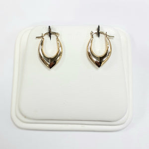 9ct Yellow Gold Hallmarked Creole Earring - Product Code - VX396