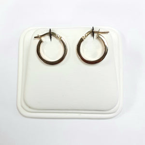9ct Yellow Gold Hallmarked Creole Earring - Product Code - VX722
