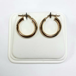 9ct Yellow Gold Hallmarked Creole Earring - Product Code - VX992