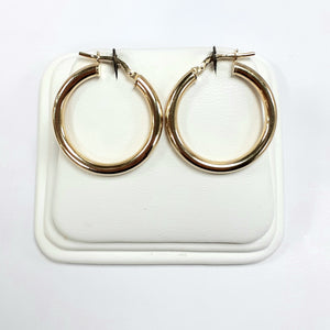 9ct Yellow Gold Hallmarked Creole Earring - Product Code - VX993