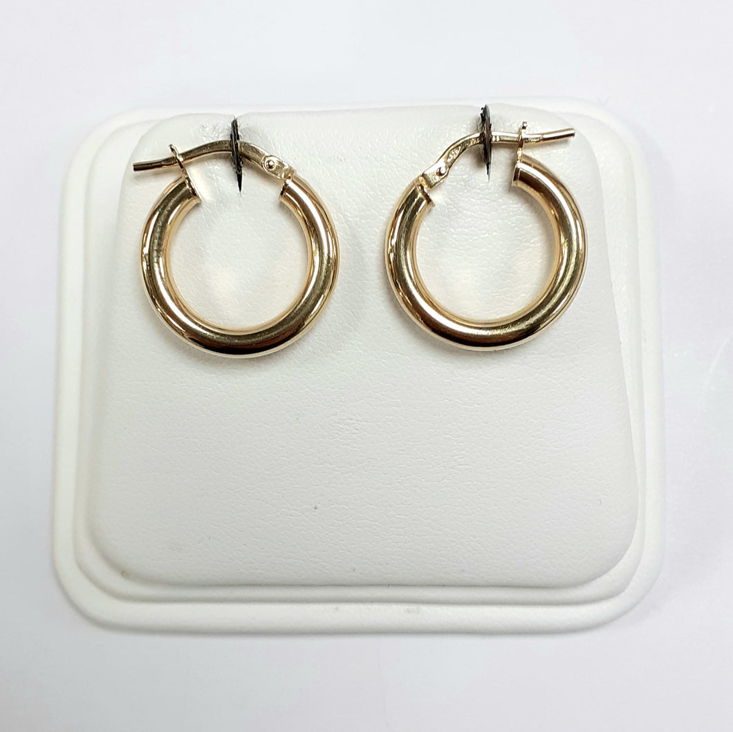 9ct Yellow Gold Hallmarked Creole Earring - Product Code - VX994
