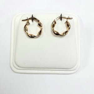 9ct Yellow Gold Hallmarked Creole Earring - Product Code - VX995