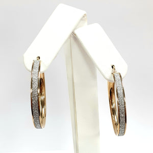 9ct Yellow Gold Hallmarked Creole Earrings - Product Code - J129