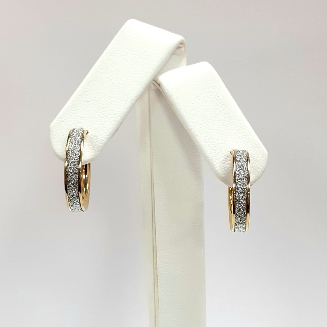 9ct Yellow Gold Hallmarked Creole Earrings - Product Code - J589