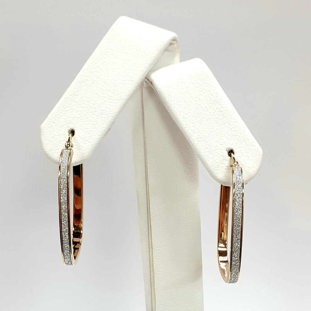 9ct Yellow Gold Hallmarked Creole Earrings - Product Code - VX709