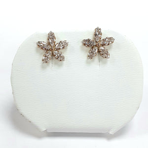 9ct Yellow Gold Hallmarked Cubic Zirconia Earrings - Product Code - C625