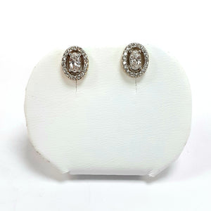 9ct Yellow Gold Hallmarked Cubic Zirconia Earrings - Product Code - C731