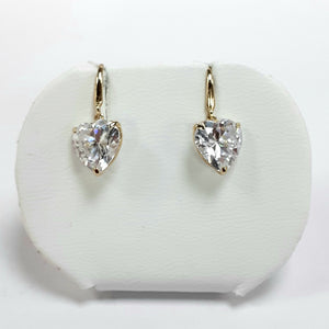9ct Yellow Gold Hallmarked Cubic Zirconia Earrings - Product Code - C776