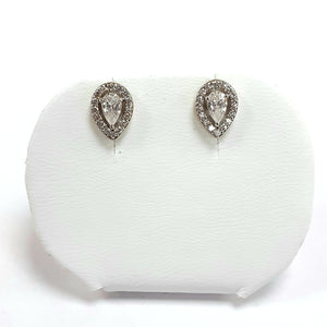 9ct Yellow Gold Hallmarked Cubic Zirconia Earrings - Product Code - J535