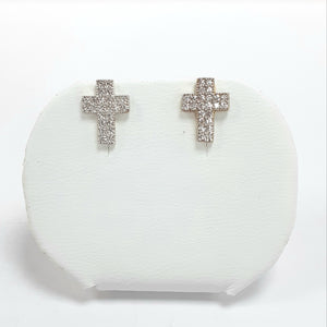 9ct Yellow Gold Hallmarked Cubic Zirconia Earrings - Product Code - J591